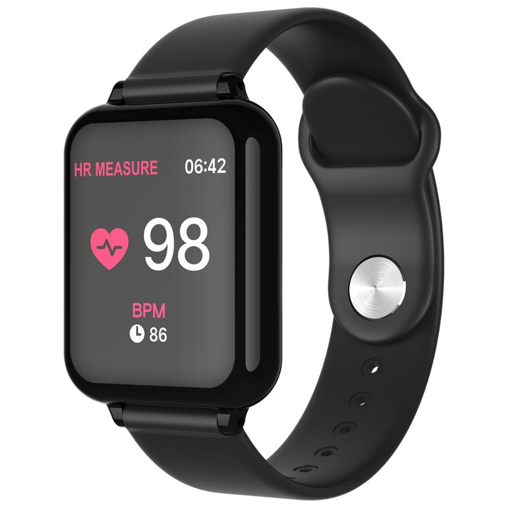 B57 relógio inteligente das mulheres dos homens pulseira de fitness rastreador monitor de freqüência cardíaca modo múltiplo esporte relógio de banda inteligente