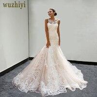 Wuzhiyi свадебное платье 2018 Плюс Размер свадебное платье vestido de noiva аппликации свадебное платье Русалка Китай Свадебные платья