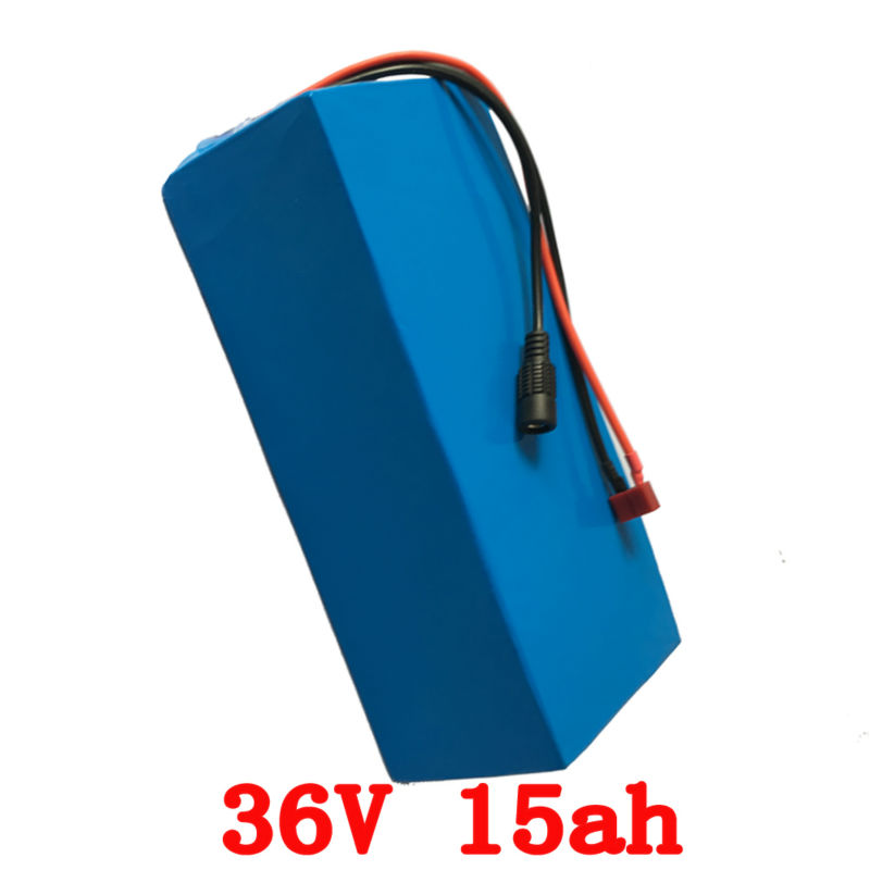 Europe no tax 500W 36V Electric Bike battery 36V 15AH Lithium Bicycle battery with PVC case 15A BMS 42V 2A charger цены