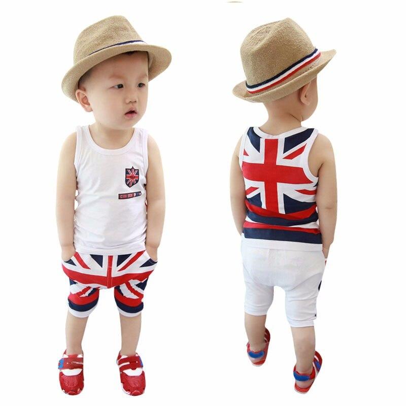 Mode D'été Bébé Garçons Vêtements Ensembles Roupas Infantile 9