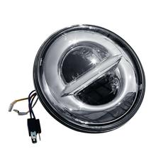 купить Motorcycle 7 LED Projector Headlight Lamp Fit For Harley Electra Glide 2000-2014 2013 Bad Boy 95-97 Chrome дешево