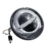 Motorcycle 7 LED Projector Headlight Lamp Fit For Harley Electra Glide 2000 2014 2013 Bad Boy 95 97 Chrome