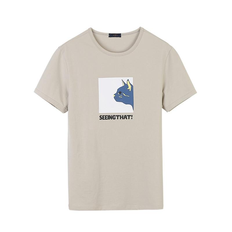 Summer cotton t shirt mens 3D funny cat head print mens T-shirt street casual bodybuilding mens short-sleeved tshirt