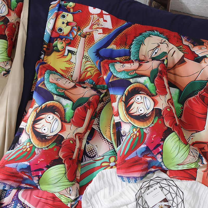 One Piece 3D Bedding King Queen Full Twin Size Pillowcase