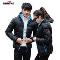 2016 Warm Outwear Winter Jacket Men Windproof Hood Men Women Love Jacket Size High Quality Jacket