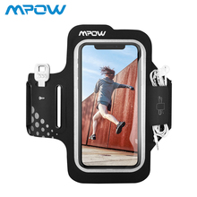 Mpow Sport Gym Armband Case Adjustable Running Armband On Hand Smartphone Cell Phones Hand Bag for iPhone XR X 8 7 6s 6 Samsung comfy sport band workout armband adjustable neoprene velcro strap black for nokia latest smartphone retractable car charger