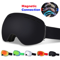 Magnetic Connectio Professional Ski Goggles Double Layers UV400 Anti fog Snowboard Skiing Glasses Men Women Ski Mask Eyewear