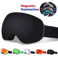 Magnetic Connectio Professional Ski Goggles Double Layers UV400 Anti fog Snowboard Skiing Glasses Men Women Ski Mask Eyewear
