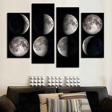 Outer Space Earth Astronauts Galaxy Venus Relaxing Moon Landing Fantasy Kraft Paper Poster Home Decor Wall Abstract