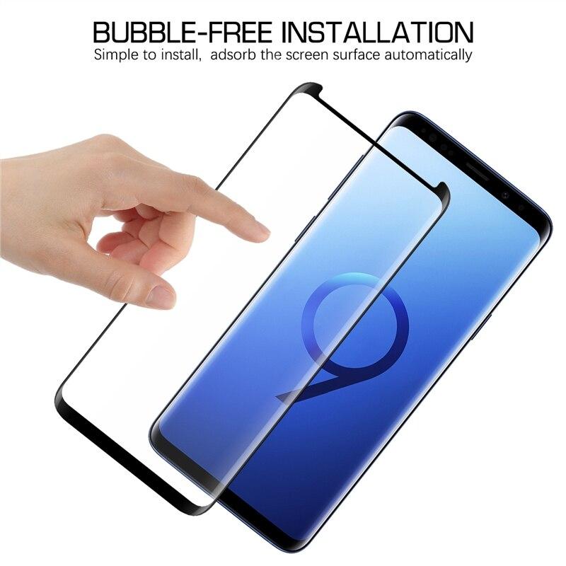 3D изогнутое закаленное стекло для Samsung Galaxy S8 S9 полное покрытие 9H Защитная пленка для экрана для Samsung Galaxy S8 S9 Plus Защитные стёкла и плёнки      АлиЭкспресс