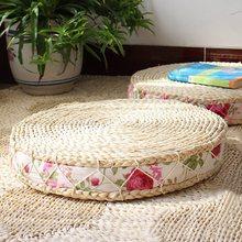 404540cm tatami cushion floor cushions round pouf natural straw meditation mat yoga mat round zafu chair cushion