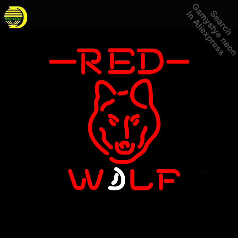 Red Wolf Head Neon Sign Professional neon Light Sign galss tubes Commercial Recreation Rooms Neon signs for sale DropshippingRed Wolf Head Neon Sign Professional neon Light Sign galss tubes Commercial Recreation Rooms Neon signs for sale Dropshipping