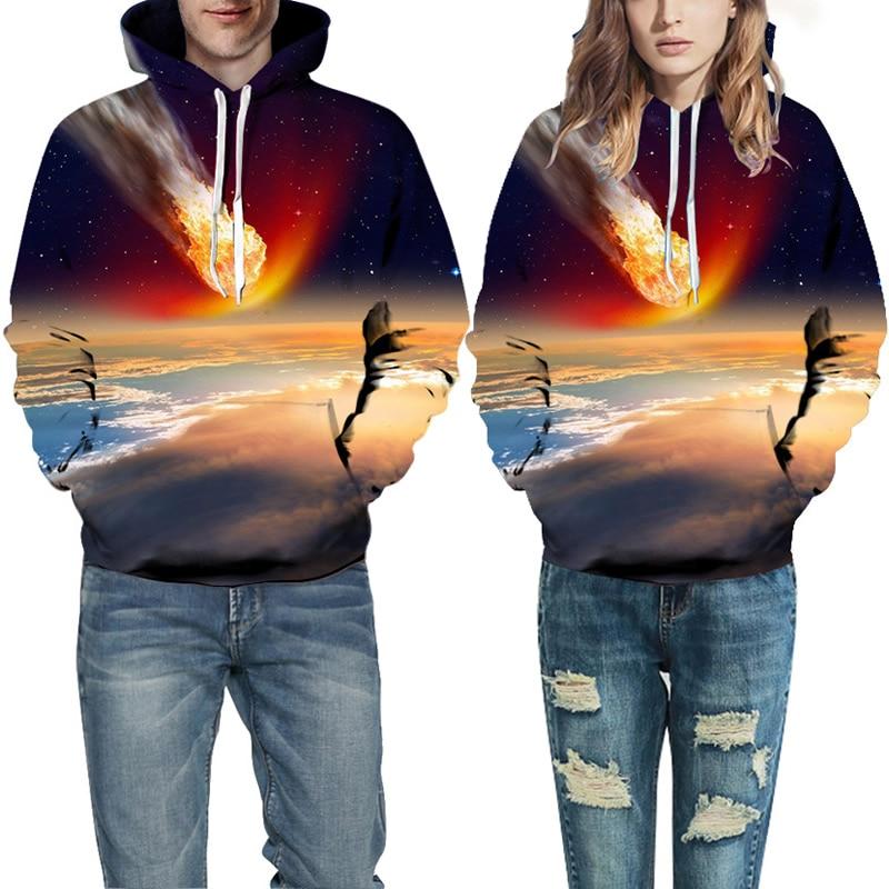 Brand 3d Print Hoodies woMens Sweatshirt With Hat Long Sleeve Fashion Style Men/womens Sweatshirts Pullovers Hoodie XXXL
