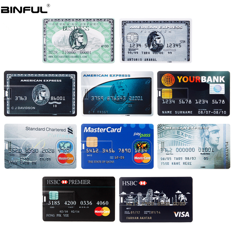 Image 5 - Creative Usb Flash Drive 128GB HSBC MasterCard Credit Usb Stick 64GB 32GB 16GB 8GB 4GB Pen Drive Bank Card Flash Disk Pendrive-in USB Flash Drives from Computer & Office