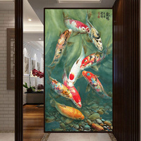 Embroidery Square Diamond Mosaic Beautiful Fish Picture Needlework 3D Diamond Embroidery Cross Hobbies And Crafts Gift