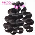Recool Hair Products 8A Peruvian Virgin Hair Body Wave 4 Bundles Peruvian Human Hair Bundles Unprocessed Peruvian Virgin Hair