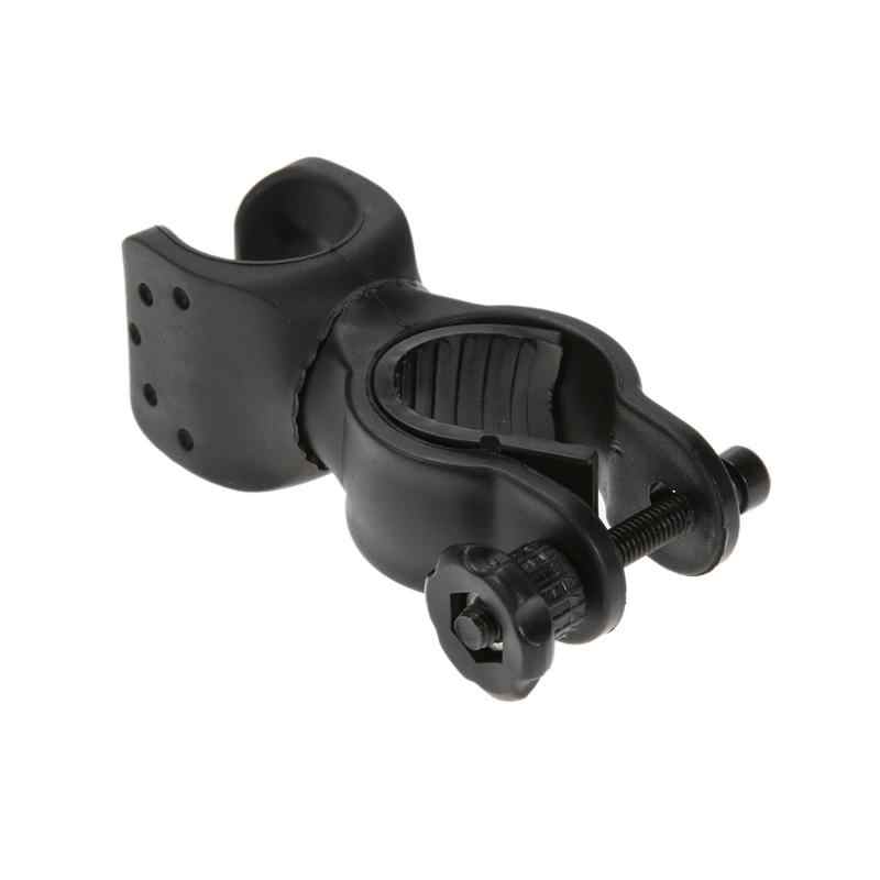 Mini vélo lampe torche support de lampe 360 degrés rotatif vtt en caoutchouc vélo lumière Clip vélo pièces accessoires approvisionnement
