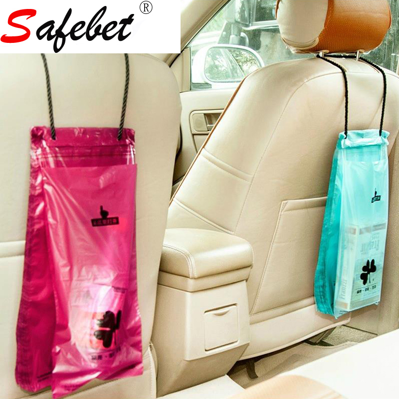 50 Pcs Set Car Hanging Disposable Sealed Vomit Bags Plastic Trash Pouch Travel Garbage Storage Organizer Emergency Tool In From Home