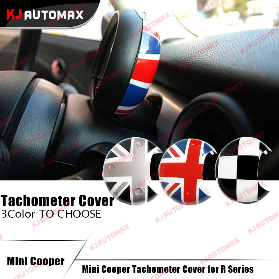 mini cooper tachometer cover cap sticker car interior decoration accessories for r55 r56 r57 r58. Black Bedroom Furniture Sets. Home Design Ideas