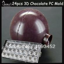 24 tassen Mine 3D Ball Schokolade Klar Polycarbonat Plastikform, DIY Handgemachten Schokolade PC Mold, Schokolade Werkzeuge, qualität