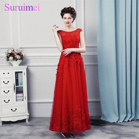 Free Shipping Real Photos Hot Red 3D Lace Evening Dresses 2017 Fomal Evening Party Dress Party