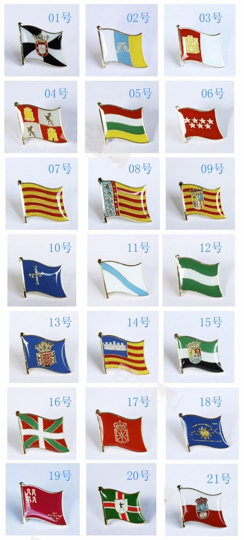 National Flag Metal Lapel Pin Flag Pin Autonomous Communities Of Spain Nationalities And Regions Of Spain
