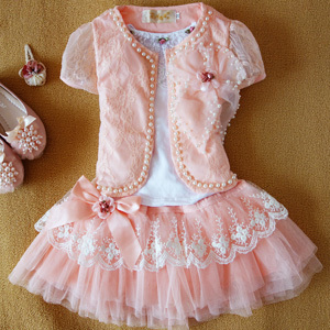 Anlencool Free shipping 2017 latest lace super cute dress of the girls baby dress set baby girl clothing set Girl's dress set