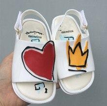 Mini Melissa 2018 Нова міні взуття Червона серце дівчина Хлопчики сандалі Дитячі дощі Взуття Жіноче взуття Дівчина непідйомна Дитяча сандальна малюк