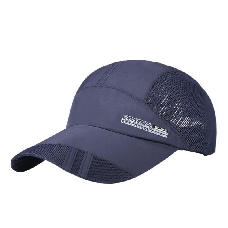 Summer Fashion Style Meeste pesapall Paigaldatud mütsid Reguleeritav spordikork Visor Hat Gorras hingav Casquette