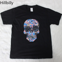 Hillbilly Punk Skull Print Women T-shirts Plus Size Harajuku Shirt Cotton T Shirts for Summer Graphic Tees & Tops