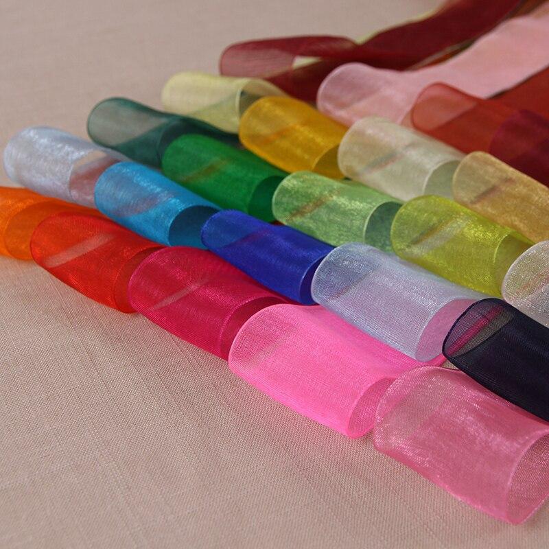 "10mm Red Wedding Crafts Sheer Organza Ribbon 50 Yards 3//8/"""