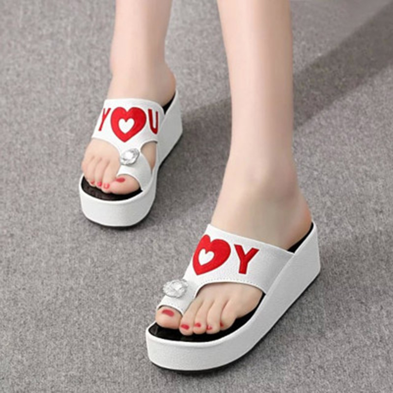 <font><b>2018</b></font> Summer <font><b>Sexy</b></font> Flip Flops Women <font><b>Sandals</b></font> Bohemian Muffin Slope With <font><b>Sandals</b></font> sapato masculino calzado hombre terlik NO.121 image