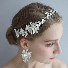 Кристалл из опала для волос, свадебные аксессуары обруч «Виноградная лоза» Корона серебристый цветок под старину свадебное украшение вечерние для выпускного на волосы Ювелирное Украшение на голову невест