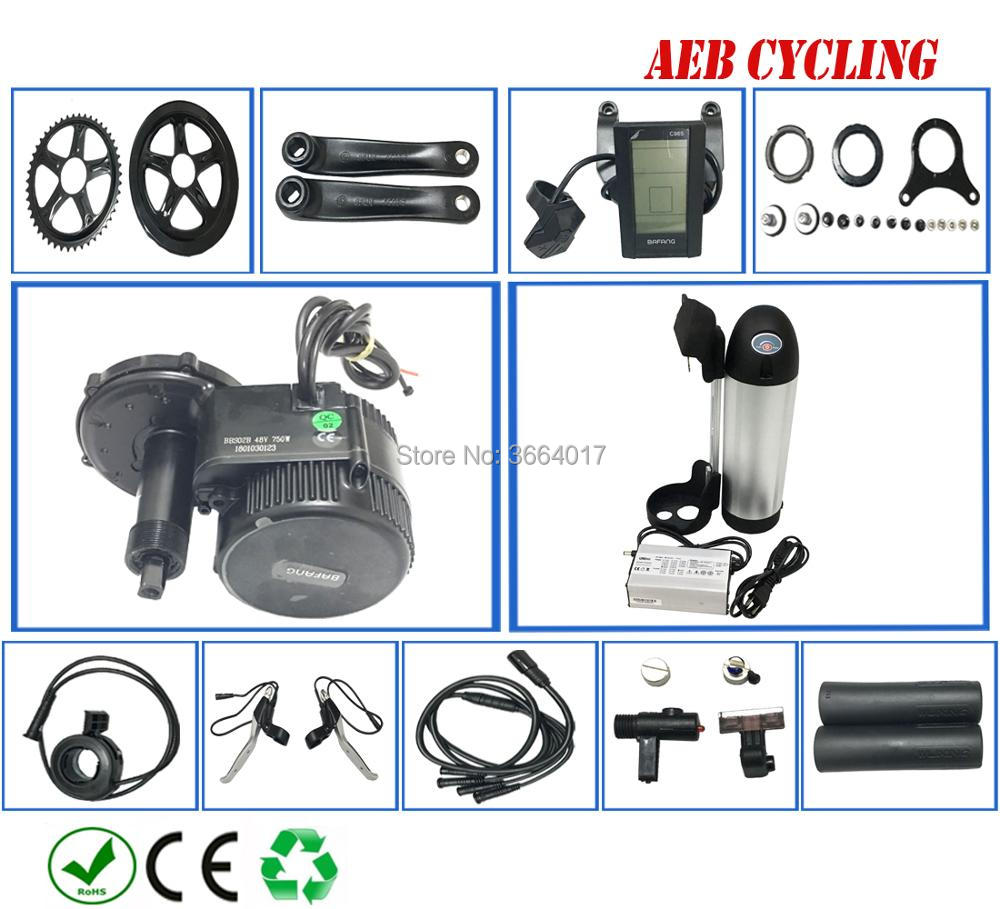 Free shipping Bafang mid drive motor kits BBS01B 36V 250W with 250W 350W 500W 36V 10Ah 21Ah bottle down tube Li ion battery|Electric Bicycle Battery| |  - title=