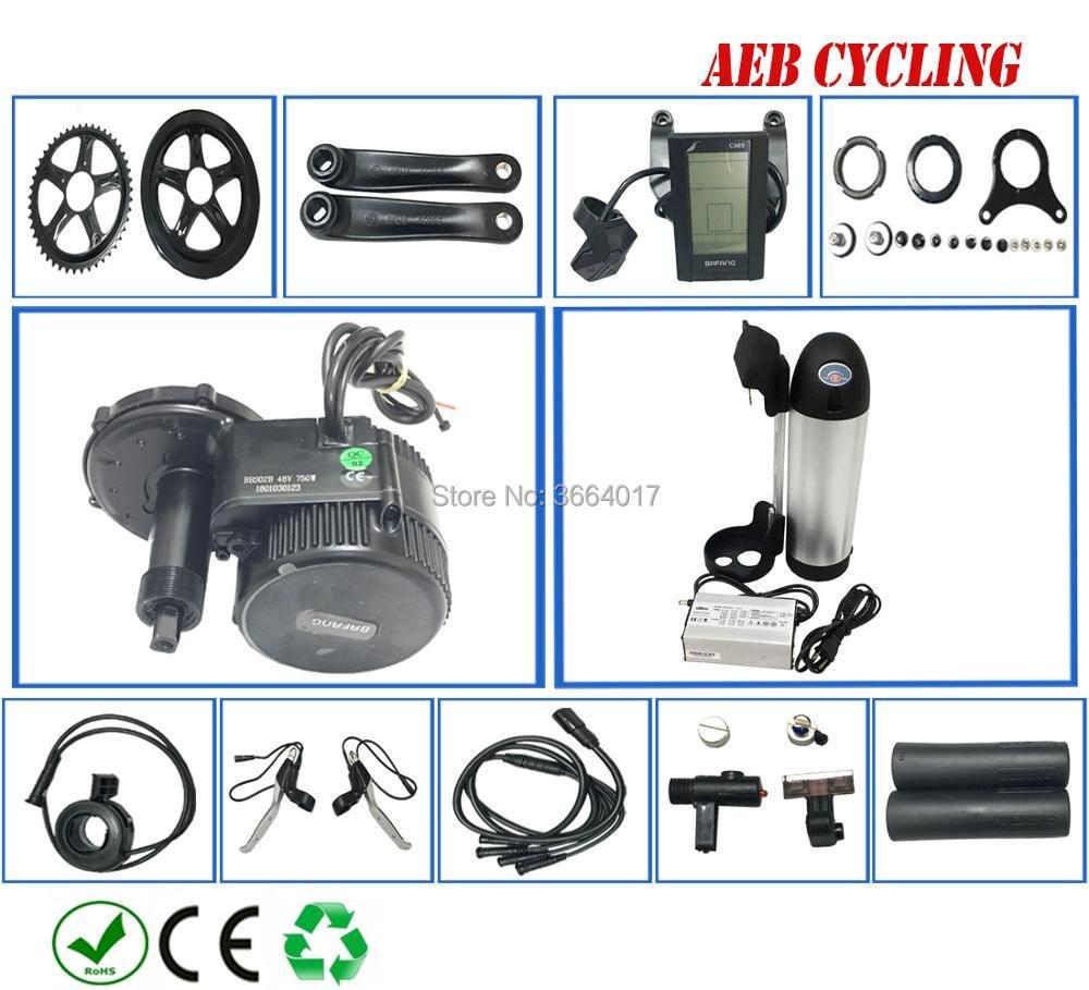 Livraison gratuite Bafang kits de moteur d'entraînement BBS01B 36 V 250 W avec 250 W 350 W 500 W 36 V 10Ah-21Ah bouteille tube Li-ion batterie