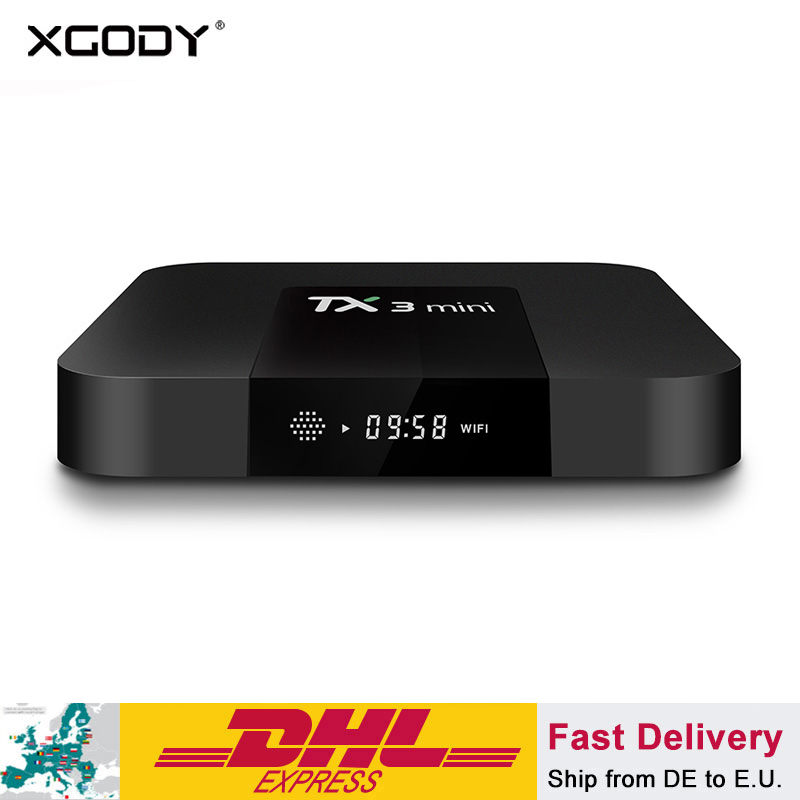 XGODY TX3 mini Smart TV Box Android 7.1 Media Player 2 gb 16 gb S905W Quad Core Wifi Internet Ensemble -top Box Netflix