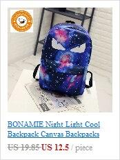 2bc96ac21a15 BONAMIE Night Light Cool Backpack Canvas Backpacks School Bags ...