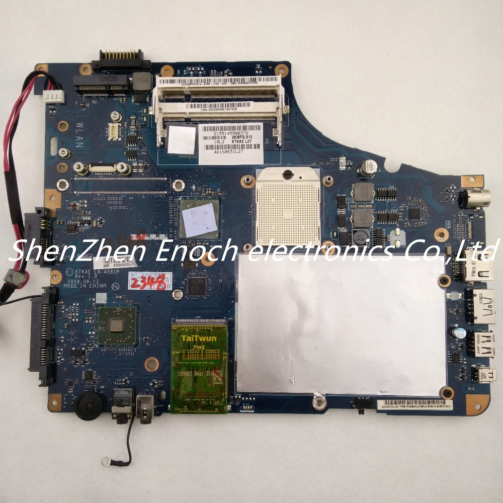 ФОТО For Toshiba satellite  A350D A355D integrated laptop motherboard K000069570 KTKAE LA-4581P stock No.999