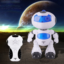 Abbyfrank RC Robot Toy Electronic Remote Control Musical Walk Dancing Lightenning Intelligent Robot Flashing Gift For Children