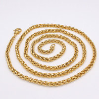 Width 5 mm / 0.12 inch 60 cm chain stainless steel Hip hop necklace