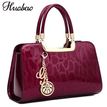 New Luxury Women Patent Leather Handbags Designer Top Handle Bags High Quality Ladies Handbag Fashion Pendant Tote sac a main grande bolsas femininas de couro
