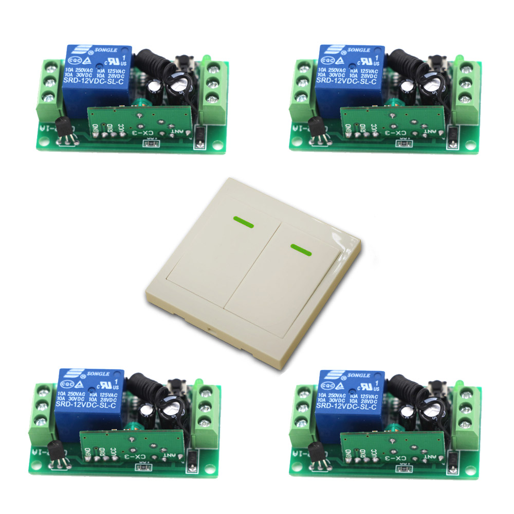 315Mhz Wireless Relay Module Switch Remote Control Switch 9V/12V/24V 1CH 10A Receiver 2CH Wall Transmitter For Light Lamp freeshipping rs232 to zigbee wireless module 1 6km cc2530 chip