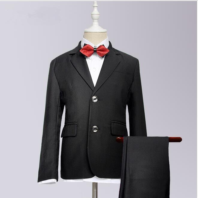 100% QualitäT 2016 Neue Ankunft Mode Baby Jungen Kinder Blazer Jungen Anzug Für Hochzeiten Abschlussball-formale Schwarz/marineblau Kleid Hochzeit Jungen Anzüge 100% Original