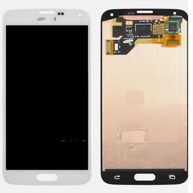 FOR Samsung Galaxy S5 i9600 G900A LCD Screen Touch Digitizer + Home Flex