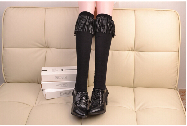FREE SHIPPING Show thin tassel leg warmers thin leg tube leg leg warmers in heaps stockings 3 STYLES