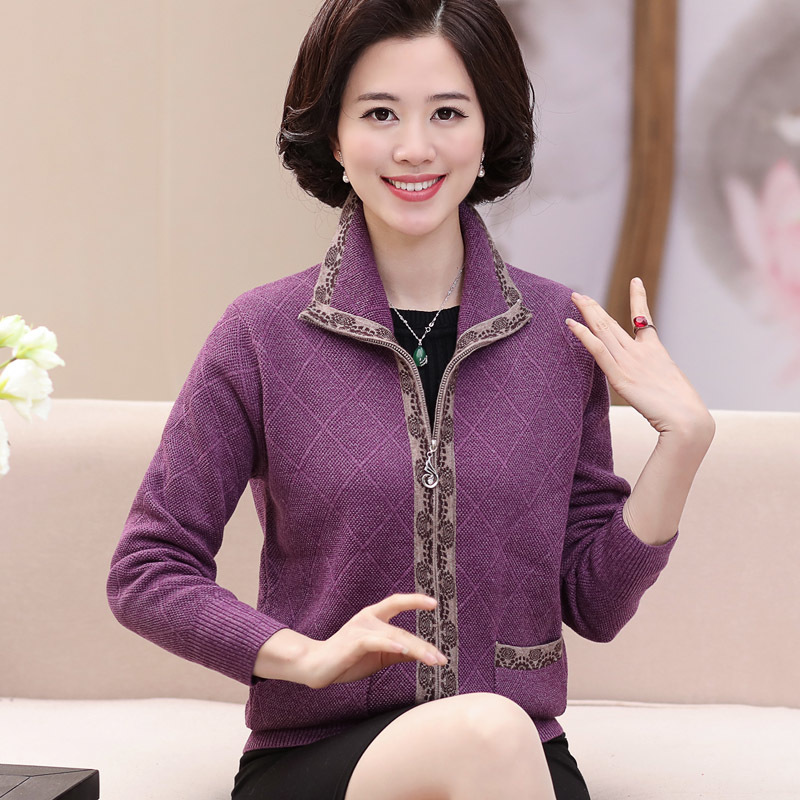 2017 Autumn Winter Plaid Cashmere Sweater Women Cardigan Knitted Sweater Coat Long Sleeve Casual Woman Tops Plus Size
