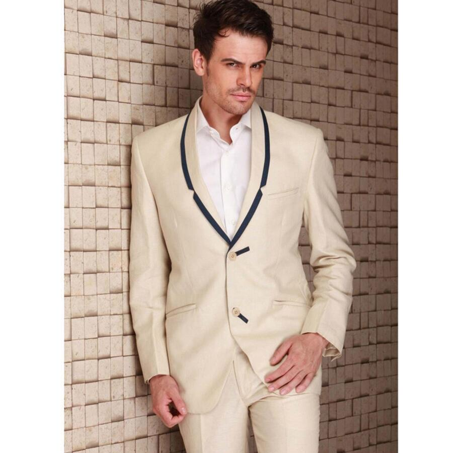 Popular Wedding Suit Groom Beige Slim-Buy Cheap Wedding Suit Groom ...