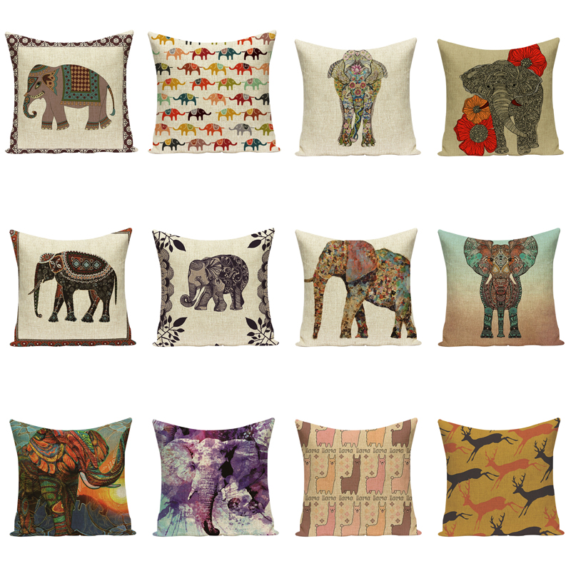 Elephant Cushion Cover Indian Cushions Home Decor Таңдамалы - Үй тоқыма - фото 3