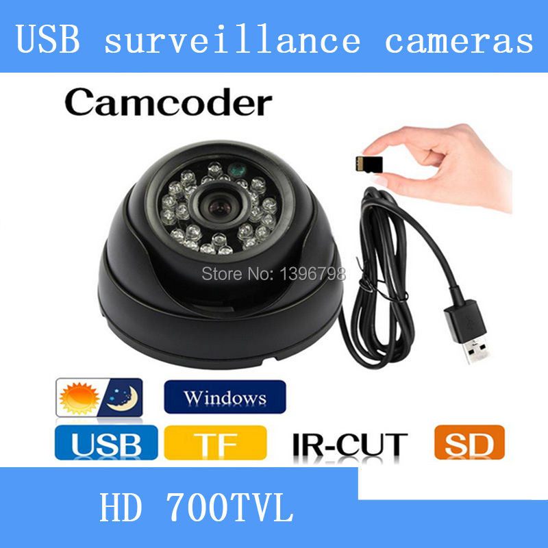 HD CCTV DVR Recorder Night Vision Dome Camera with Motion Detection  Loop Recorder Security Camera USB Support 32GB TF Card
