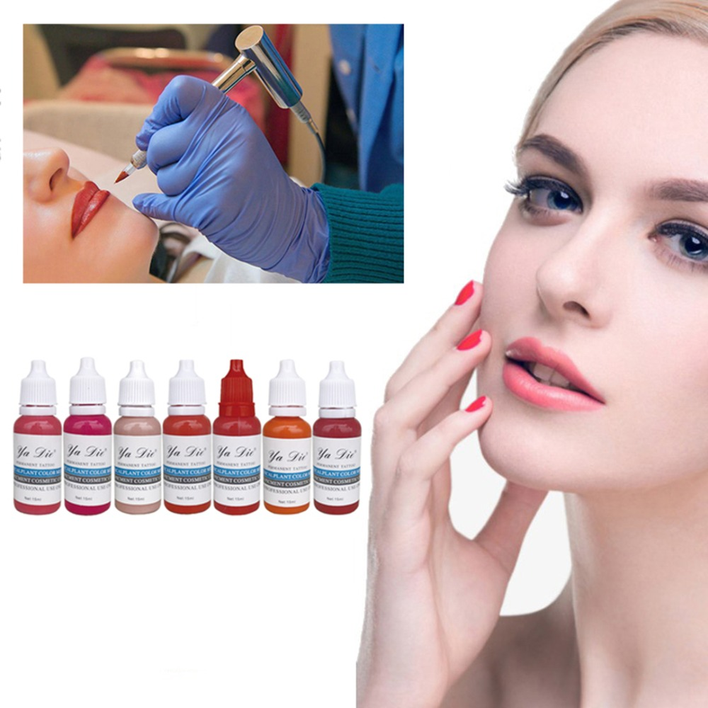 7 Colors Permanent Eyebrow Lipstick Microblading Pigments Paints Ink for Lip Tattooing 15ml 1/2 oz Beauty Kits7 Colors Permanent Eyebrow Lipstick Microblading Pigments Paints Ink for Lip Tattooing 15ml 1/2 oz Beauty Kits